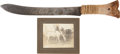 Western Expansion:Indian Artifacts, Iron Tail 101 Ranch Knife and Original Photo.... (Total: 2 Items)
