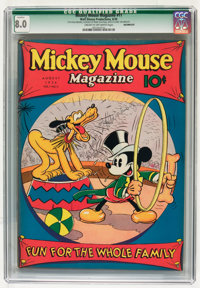 Mickey Mouse Magazine #11 Incomplete (K. K. Publications/Western Publishing Co., 1936) CGC Qualified VF 8.0 Cream to off...