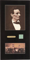 Political:Presidential Relics, Abraham Lincoln: Five Long Strands of His Hair....