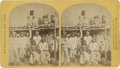 """Photography:Stereo Cards, Stereoview: No. 19 Zuni Indian """"Braves"""" Pueblo, N.M. by O'Sullivan...."""
