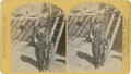 Photography:Stereo Cards, Stereoview: No. 8 War Chief of the Zuni Indians by O' Sullivan....