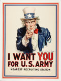 Military & Patriotic:WWI, World War I Uncle Sam Patriotic Poster by James Montgomery Flagg,1917...