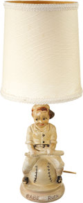 Baseball Collectibles:Others, Circa 1940's Babe Ruth Figural Lamp....