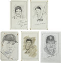 "Baseball Collectibles:Others, Giants Stars Signed Original Artwork Lot of 5 from ""RaittCollection""...."