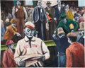 Baseball Collectibles:Others, Boston Red Sox Original Painting...