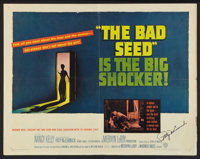 "The Bad Seed (Warner Brothers, 1956). Autographed Half Sheet (22"" X 28""). Thriller"