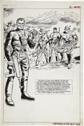 Original Comic Art:Splash Pages, Dick Ayers and John Tartaglione Sgt. Fury Annual #3 ColonelKlaue and the Blitz Squad Pin-Up Page Original Art (Ma...