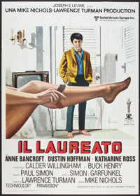 "The Graduate (United Artists, R-1970s). Italian 2 - Folio (39"" X 55""). Comedy"