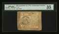 Colonial Notes:Continental Congress Issues, Continental Currency September 26, 1778 $50 PMG Choice Very Fine35....