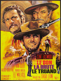 """The Good, the Bad and the Ugly (United Artists, R-1970s). French Grande (46"""" X 61""""). Western"""
