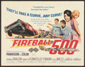 "Movie Posters:Action, Fireball 500 (American International, 1966). Half Sheet (22"" X 28""). Action.. ..."