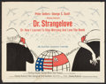 "Movie Posters:Comedy, Dr. Strangelove or: How I Learned to Stop Worrying and Love theBomb (Columbia, 1964). Half Sheet (22"" X 28""). Comedy.. ..."