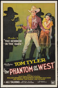 """Movie Posters:Serial, The Phantom of the West (Mascot, 1931). One Sheet (27"""" X 41"""")Chapter 3 -- """"The Horror in the Dark."""" Flat Folded. Serial.. ..."""