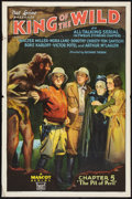 "Movie Posters:Serial, King of the Wild (Mascot, 1931). One Sheet (27"" X 41"") Chapter 5 --""The Pit of Peril."" Flat Folded. Serial.. ..."