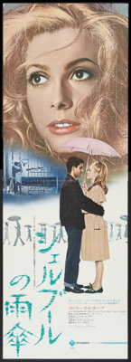 """The Umbrellas of Cherbourg (Madeleine Films, R-1972). Japanese STB (20"""" X 58""""). Musical"""