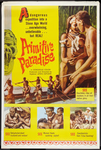 """Primitive Paradise (Excelsior, 1961). Poster (40"""" X 60""""). Documentary"""