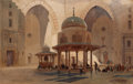 Works on Paper, EDWARD ALFRED GOODALL (British, 1819-1908). Mosque of Sultan Hassan, Cairo, 1870. Watercolor on paper. 13-1/2 x 21 inche...