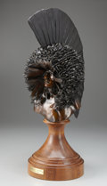 Fine Art - Sculpture, American:Contemporary (1950 to present), FRITZ WHITE (American, b. 1930). Mandan Bonnet. Bronze. 27 x12 x 17 inches (68.6 x 30.5 x 43.2 cm). Ed. 2/25. Signed on...