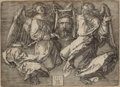 Prints, PROPERTY OF MRS. RUTH CARTER-STEVENSON. ALBRECHT DÜRER (German, 1471-1528). The Sudarium Held by Two Angels, 1513...