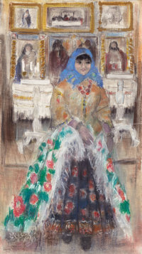 PROPERTY FROM THE WICHITA CENTER FOR THE ARTS  LEON GASPARD (American, 1882-1964) Russian Girl in the Cza
