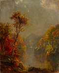 American:Hudson River School, JASPER FRANCIS CROPSEY (American, 1823-1900). In the Berkshires, 1880 . Oil on canvas. 10 x 8 inches (25.4 x 20.3 cm). S...