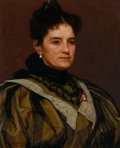 Fine Art - Painting, American:Antique  (Pre 1900), JOHN GEORGE BROWN (American, 1831-1913). The Artist's Wife,1895. Oil on canvas. 21-1/2 x 17-1/2 inches (54.6 x 44.5 cm)...