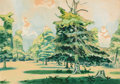 Fine Art - Painting, American:Modern  (1900 1949)  , CHARLES EPHRAIM BURCHFIELD (American, 1893-1967). Untitled(possibly Green Grove), 1920. Watercolor and gouache onp...