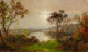 JASPER FRANCIS CROPSEY (American, 1823-1900) Wyoming Valley (Probably, Landscape with Sheep) Oil on canvas 12 x 2