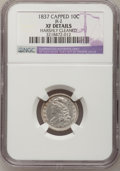 Bust Dimes, 1837 10C Capped--Harshly Cleaned--NGC Details. XF. JR-2. NGCCensus: (5/111). PCGS Population (5/103). Mintage: 359,500. Nu...