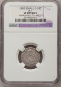 Bust Dimes, 1820 10C Small 0--Improperly Cleaned--NGC Details. VF. JR-7. NGCCensus: (3/208). PCGS Population (5/149). Mintage: 942,58...