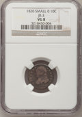 Bust Dimes, 1820 10C Small 0 VG8 NGC. JR-3. NGC Census: (2/216). PCGSPopulation (2/158). Mintage: 942,587. Numismedia Wsl. Price for ...