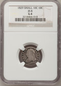 Bust Dimes: , 1829 10C Small 10C Good 4 NGC. JR-8. NGC Census: (4/249). PCGSPopulation (2/219). Mintage: 770,000. Numismedia Wsl. Price...