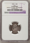 Bust Dimes: , 1831 10C --Obverse Scratched, Improperly Cleaned--NGC Details. VF. JR-5. NGC Census: (2/258). PCGS Population (3/260). Mint...