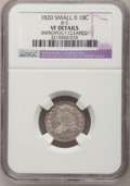 Bust Dimes, 1820 10C Small 0--Improperly Cleaned--NGC Details. VF. JR-5. NGCCensus: (3/208). PCGS Population (5/149). Mintage: 942,58...