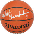 Basketball Collectibles:Balls, Wilt Chamberlain Single Signed Basketball....