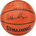Basketball Collectibles:Balls, Hakeem Olajuwon and Others Multi Signed Basketball....