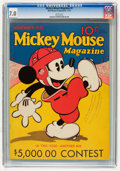 Platinum Age (1897-1937):Miscellaneous, Mickey Mouse Magazine #3 (K. K. Publications/Western PublishingCo., 1935) CGC FN/VF 7.0 White pages....