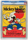Platinum Age (1897-1937):Miscellaneous, Mickey Mouse Magazine #2 (K. K. Publications/Western PublishingCo., 1935) CGC VF/NM 9.0 White pages....