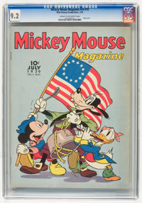 Mickey Mouse Magazine V4#10 (K. K. Publications/Western Publishing Co., 1939) CGC NM- 9.2 Cream to off-white pages