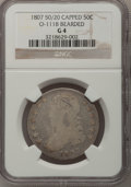 1807 50C Capped Bust, Large Stars Good 4 NGC. O-111 B, Bearded. NGC Census: (0/0). PCGS Population (0/65). Numismedia Ws...