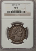 Barber Half Dollars: , 1892-O 50C XF45 NGC. NGC Census: (7/182). PCGS Population (12/213).Mintage: 390,000. Numismedia Wsl. Price for problem fre...