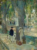 Fine Art - Painting, American:Modern  (1900 1949)  , FROM THE ESTATE OF CHARLES MARTINGNETTE. ARTHUR DAVENPORT FULLER(American, 1889-1966). The Conversation, 1921. Oil on...