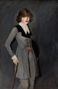 American:Ashcan, RANDALL DAVEY (American, 1887-1964). Miss Taylor, c. 1915.oil on canvas. 60 x 40 inches (152.4 x 101.6 cm). Inscribed i...