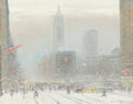 Fine Art - Painting, American:Modern  (1900 1949)  , JOHANN BERTHELSEN (American, 1883-1967). Looking Down FifthAvenue. Oil on canvas. 22 x 28 inches (55.9 x 71.1 cm). Sign...