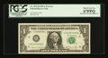 Error Notes:Miscellaneous Errors, Back Plate 129 Engraving Error Fr. 1912-H $1 1981A Federal Reserve Note. PCGS Superb Gem New 67PPQ....
