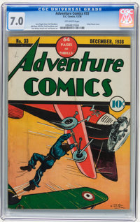 Adventure Comics #33 (DC, 1938) CGC FN/VF 7.0 Off-white pages