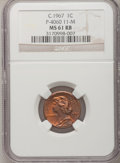 """C.1967 General Motors """"Cent"""" P-4060, MS61 Red and Brown NGC. Control Code 11-M....(PCGS# 62401)"""