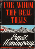 Books:First Editions, Ernest Hemingway. For Whom the Bell Tolls. New York: CharlesScribner's Sons, 1940.. First edition, first issue (w...