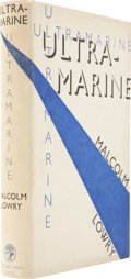 Books:First Editions, Malcolm Lowry. Ultramarine. London: Jonathan Cape, [1933]..First edition. Octavo. 275 pages.. Publisher's b...