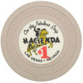 Miscellaneous:Gaming Chips, Hacienda $1 Las Vegas Casino Chip, First Issue, R-5, 1956....